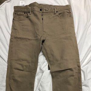 501 Levi's jeans Tan 38x32